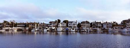 Boats docked at a harbor Naples Long Beach Califo