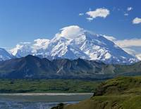 Snow-covered Mount McKinley