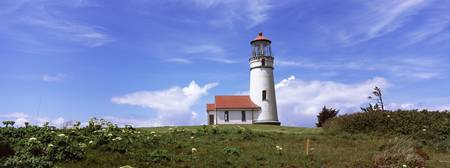 Low angle view of a lighthouse Cape Blanco Lighth