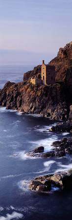 Tin mines at the coast Botallack Mine Cornwall En