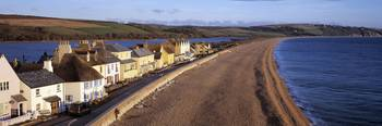 Cottages at the coast Torcross Slapton Sands Slap