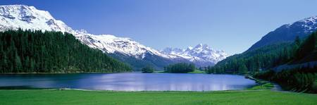 Lake Silverplaner St Moritz Switzerland