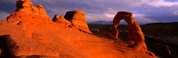 Evening Light at Delicate Arch Arches National Pa