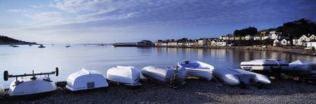Boats on the beach Instow North Devon Devon Engla