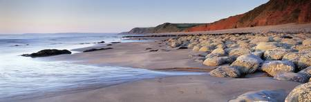 Rocks on the beach Peppercombe North Devon Devon