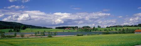 Peaceful Rural Scene near Schongau Germany