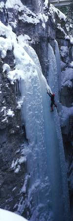 Ice Climber Marble Canyon Kootenay National Park