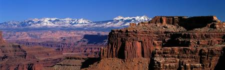 La Sal Mountains seen from Canyonlands National P