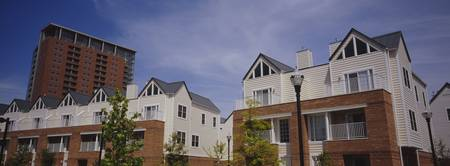 Low angle view of apartment buildings