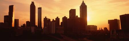 Sunset skyline Atlanta GA