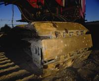 Close-up of a construction equipment