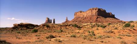 Brighams Tomb and Stagecoach Monument Valley Trib