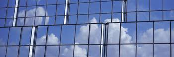 Cloud Reflection on Building Tampa FL