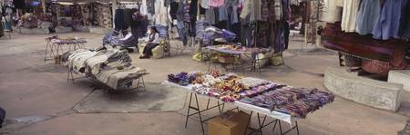 Textile products in a market