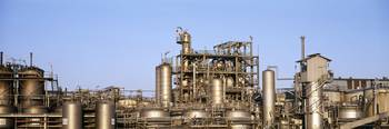 An oil refinery