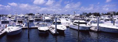 Boats moored at a dock Atlantic Intracoastal Wate