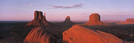 Monument Valley at Dusk UT  AZ