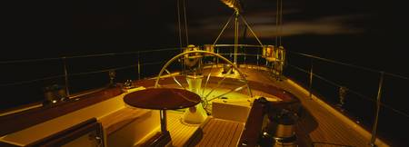 Yacht Cockpit at Night