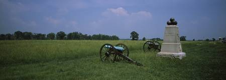 Cannons in a battlefield