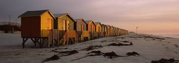 Changing room huts on the beach
