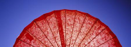 Close-up of a red parasol