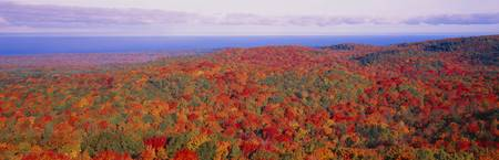 Fall Summit Peak Porcupine Mountains Wilderness S