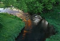 Shimmering country stream