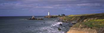 Lighthouse on the coast Pigeon Point Lighthouse S