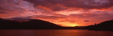 Sunset over Whiskeytown Lake CA