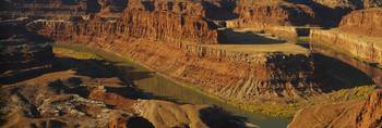 High angle view of a canyon