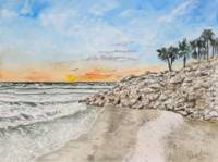 Bradenton Beach Sunset Art Print