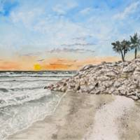 """Bradenton Beach Sunset Art Print"" by derekmccrea"