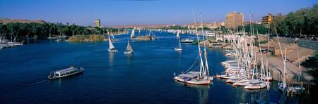 Felucca and Nile Rivers Aswan Egypt
