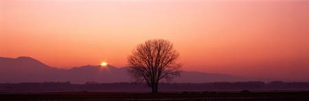 Sunset near Rosenheim Germany