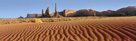 Rock formation in an arid landscape