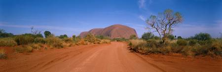Desert Road and Ayers Rock Australia