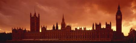 Sundown Houses of Parliament London England