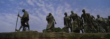 Low angle view of statues symbolizing historic In