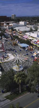High angle view of a carnival