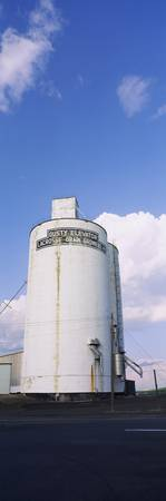 Low angle view of a grain elevator
