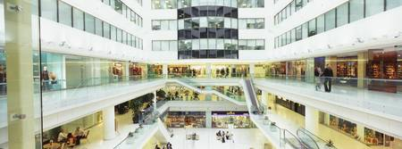Interiors of a modern shopping mall
