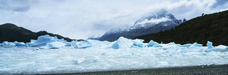 Ice fr Grey Glacier Lake Grey Torres del Paine Na