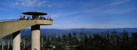 Tourists on an observation tower