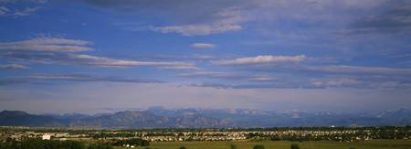 Panoramic view of rocky mountains thirty miles ou