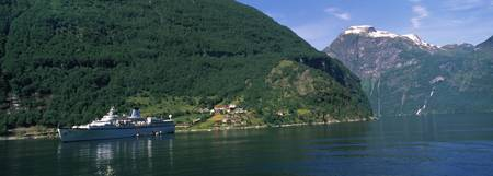 Cruise ship in the fjord