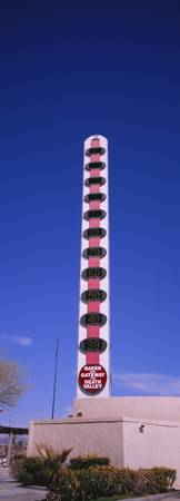 Low angle view of a worlds largest thermometer