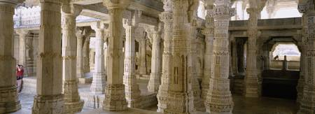 Columns in a temple