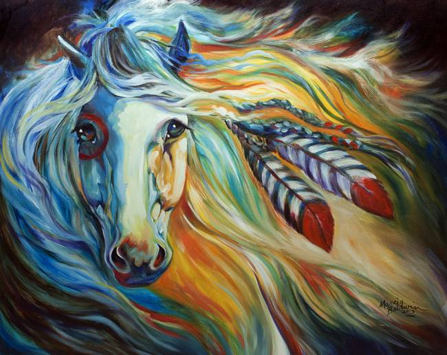 Breaking dawn indian war horse by mbaldwinfineart2006 2013