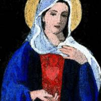 Immaculate Heart of Mary Art Prints & Posters by Karen D'Anselmi
