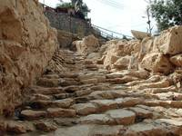 Four thousand year old stairs leading to the gates